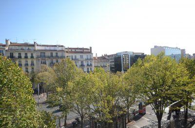 Vue du Séjour sur l'avenue du Prado