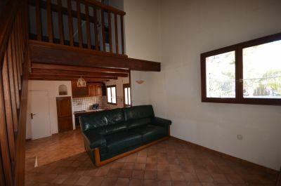 Salon-séjour-cuisine + Mezzanine-chambre maison n° 2